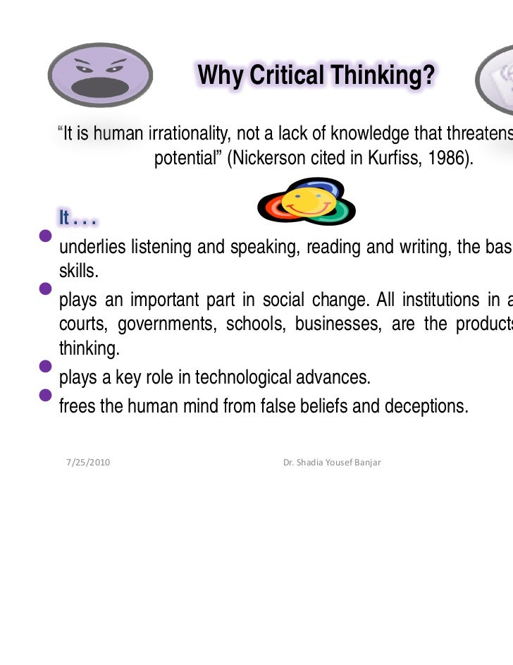 critical reading and thinking definition