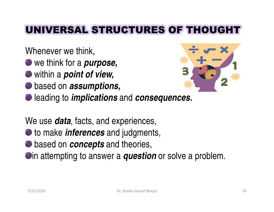 How do assumptions interfere with critical thinking