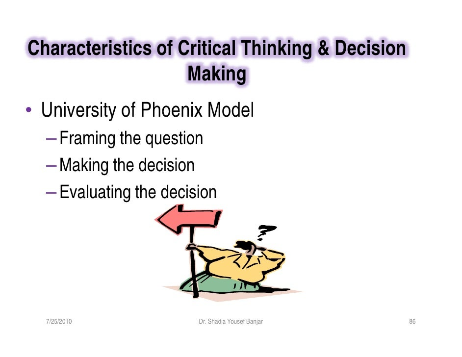 critical thinking university of phoenix Case studies in management and marketing: critical thinking university of phoenix jersey city why would critical thinking be important for business.