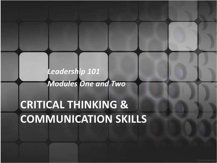 Critical thinking & communication skills rev5.24.10