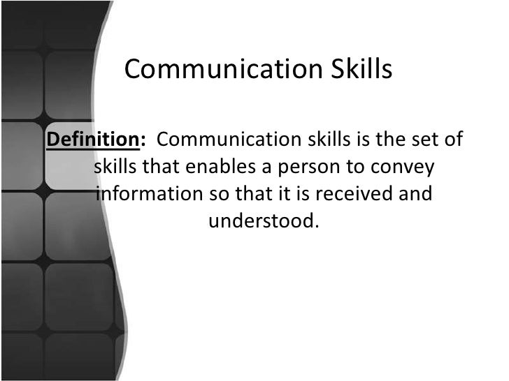 skill communication study Effective communication for reference service delivery in objectives of the study skill in interpersonal communication is one of the factors that.