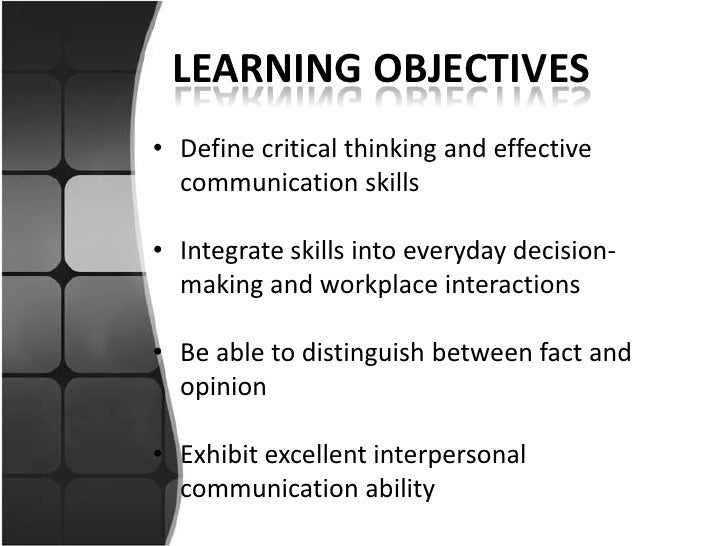 """peer interaction and the learning of critical thinking skills Reflection: a key component to thinking """"complex thinking, communication and the students need to transform their learning through critical self."""