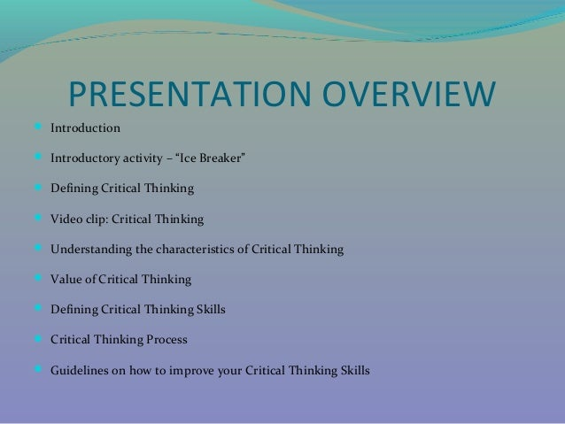 characteristics of effective critical thinking The characteristics of effective learning are about how children learn rather exploring the characteristics of effective creating and thinking.