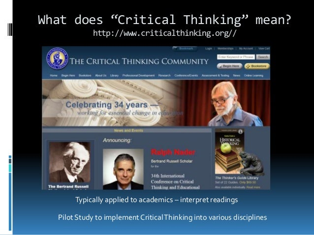richard paul critical thinking biography Writing a century before paul samuelson and other modern economists popularized the  in the works and correspondence of david ricardo 11 vols edited by piero.