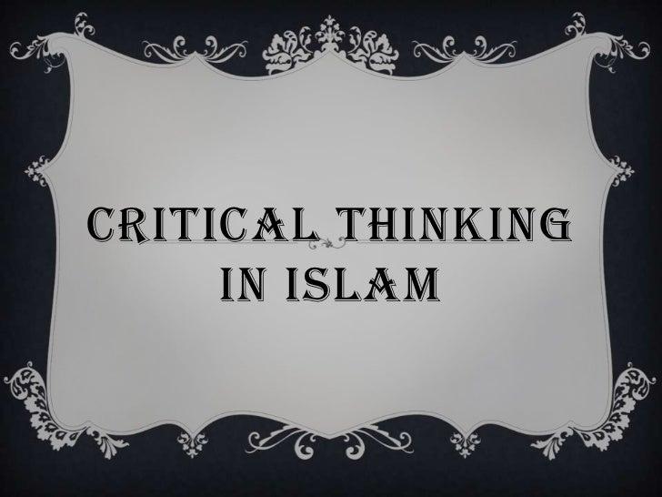 Critical thinking in islam