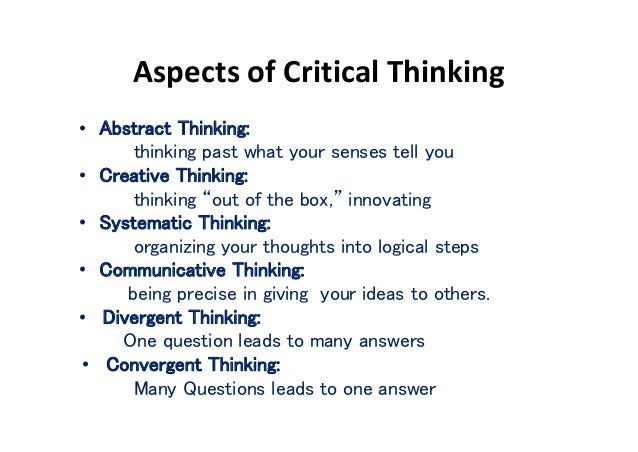the importance of critical thinking in writing Critical thinking in academic writing: an investigation of international students' perceptions and writing given the importance of demonstrating a critical.