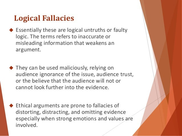 identifying fallacies essay As each group performs, have the class identify the fallacies as they come you  can create a  introduce strategies for concluding an essay: sum up your.