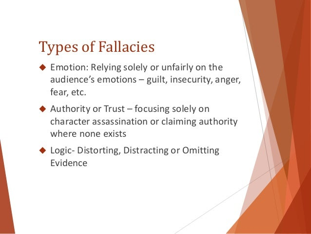 Types of fallacies in critical thinking