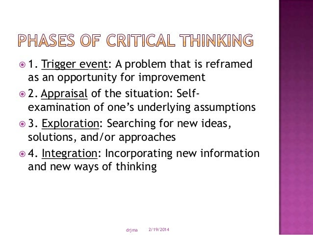 underlying assumptions critical thinking A) a critical thinker looks for underlying, possibly faulty assumptions this is perhaps the most critical part of examining thinking what does the speaker or writer assume frequently it is assumed that people understand the same thing when a term is used if i say.