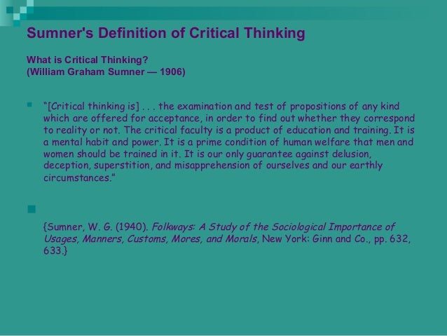 Critical Thinking - Skills You Need