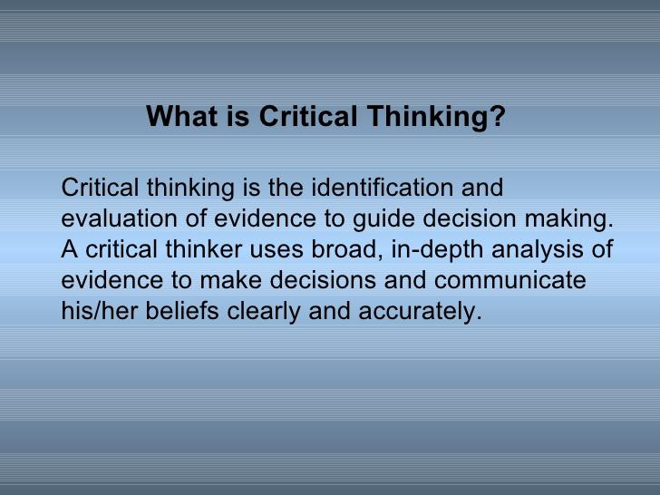 youtube critical thinking