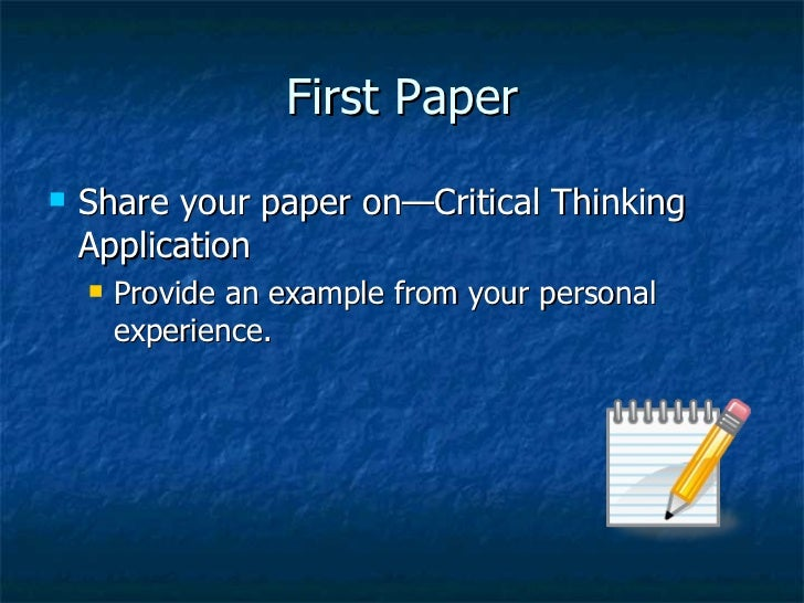 CRITICAL THINKING PowerPoint Presentation, PPT - DocSlides