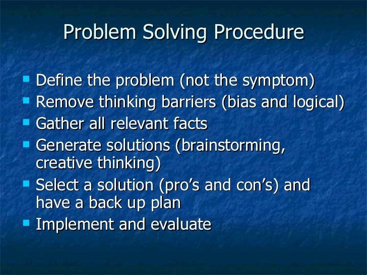 define problem solving essay
