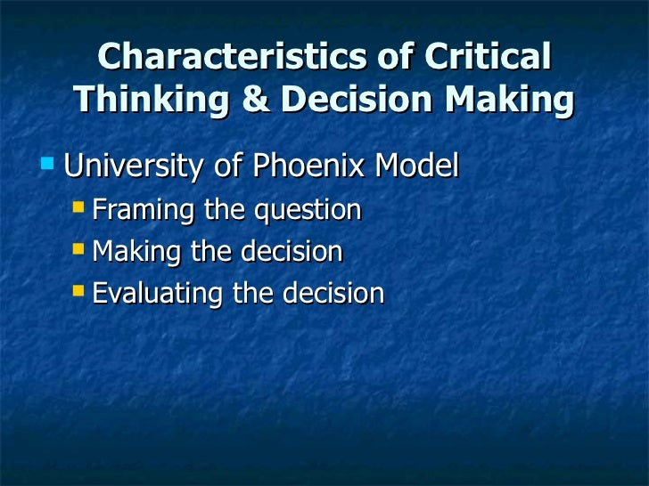 features of decision making in a Effective decision making it is not a decision decision making features specifically in business skills analysis and making decisions.