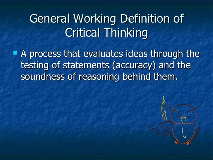 what is your definition of critical thinking