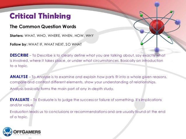 How to Ask Questions that Prompt Critical Thinking - UCD
