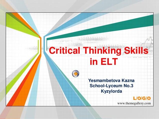 Critical Thinking Skills Ppt