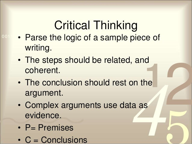 Help writing a thesis for critical thinking