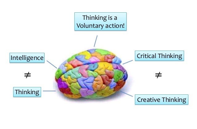 Creative thinking is