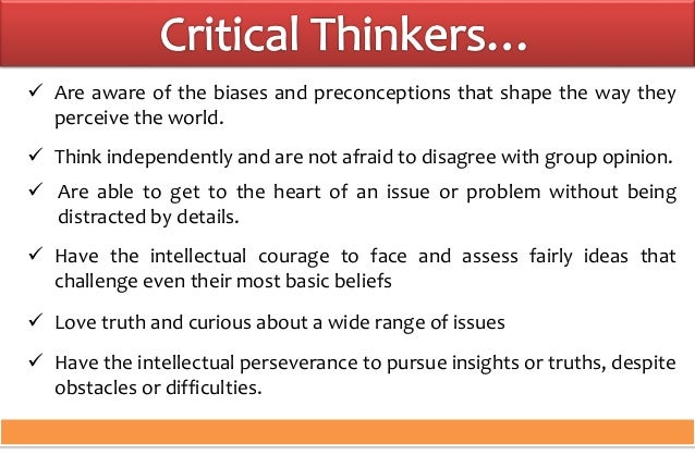 critical thinking vs creative thinking ppt