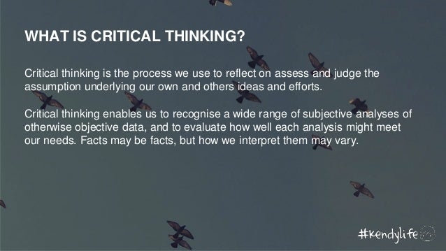 Critical thinking vs creative thinking