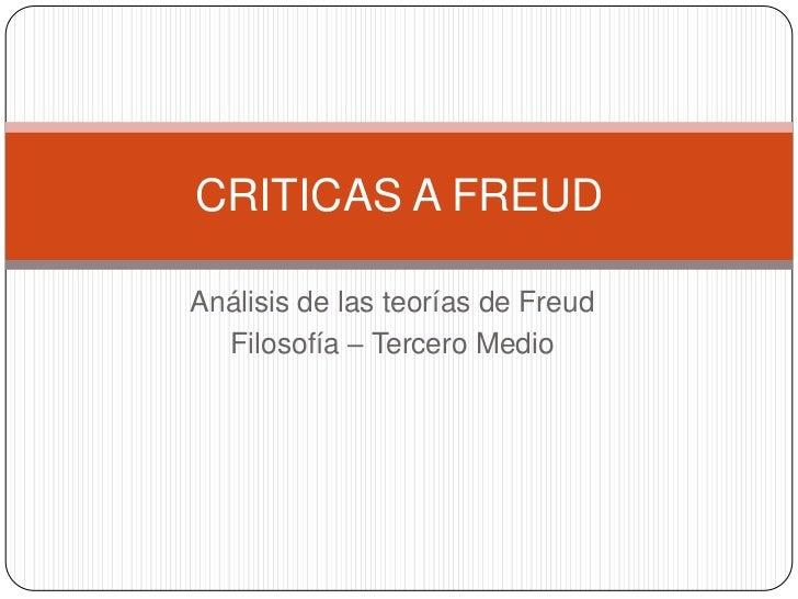 Criticas a freud