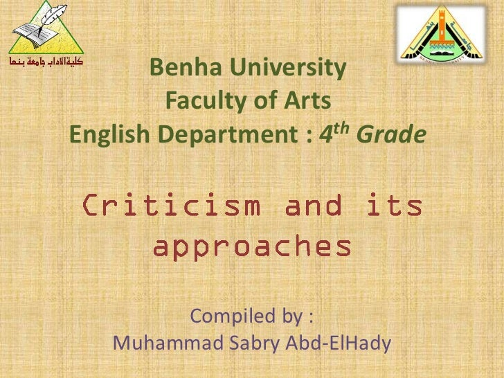 Benha University        Faculty of ArtsEnglish Department : 4th Grade        Compiled by :   Muhammad Sabry Abd-ElHady