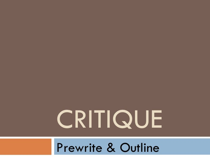 Article Critique APA Format Example