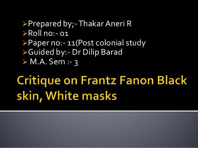 black skin white mask essay