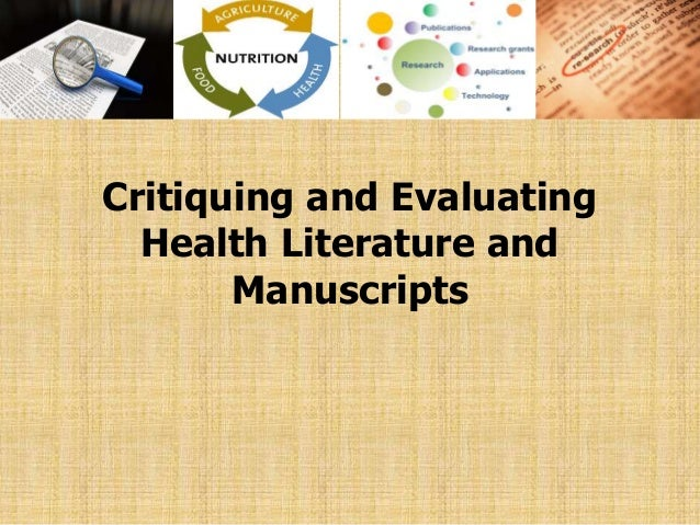 evaluating the research process paper Evaluating the research process explain the research process and what you can assume from the study from the following perspectives: how is the literature review.