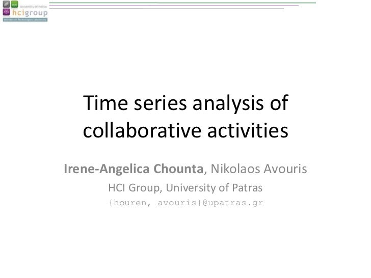 Time series analysis of collaborative activities-CRIWG2012