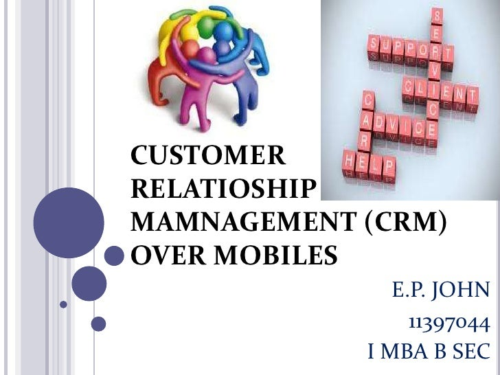 CRM OVER MOBILES
