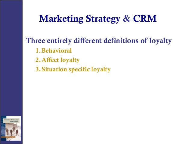 Master thesis crm marketing