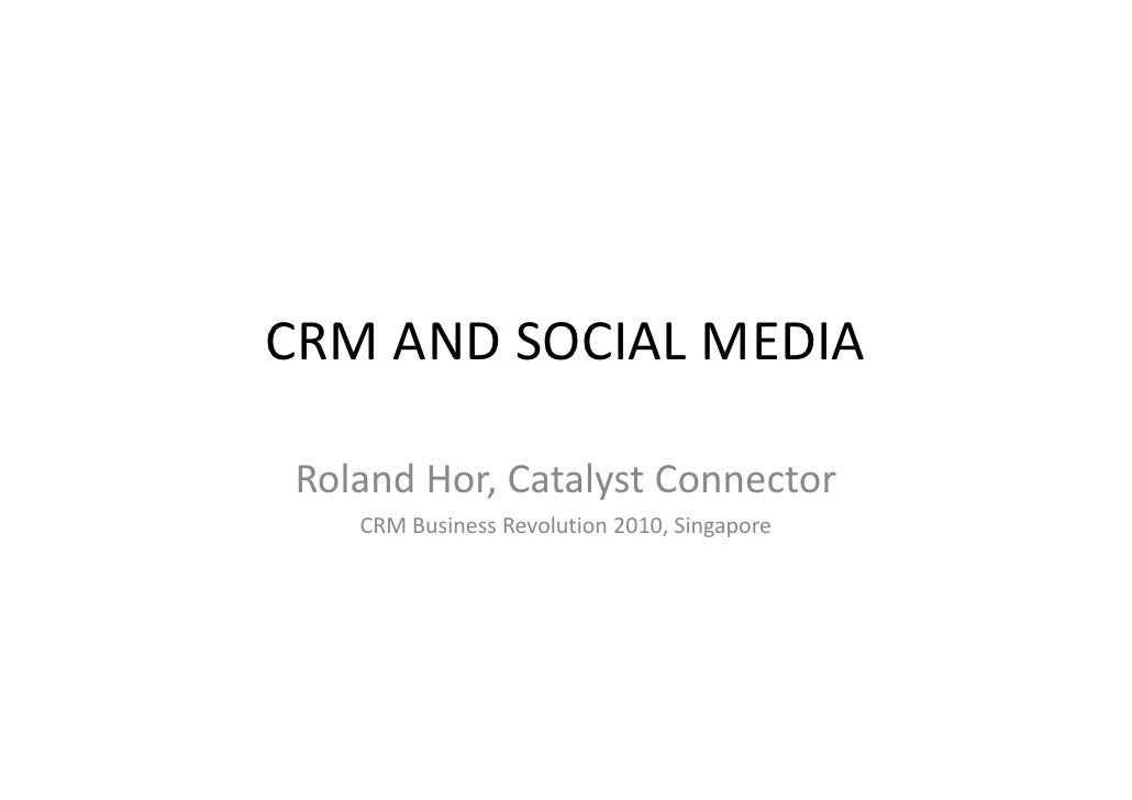 Crm and social media