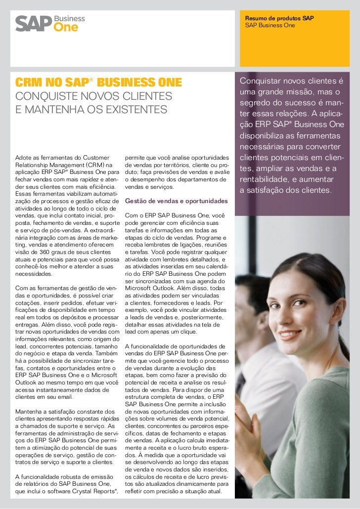 CRM no ERP SAP Business One