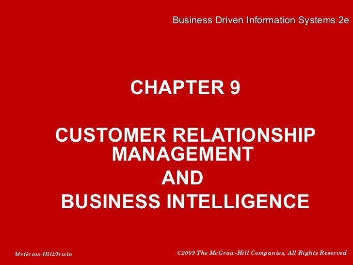 Crm business intelligence