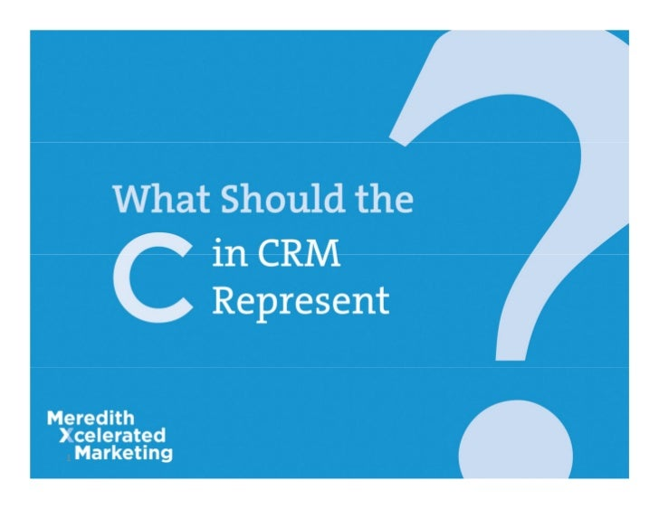 CRM by David Brown
