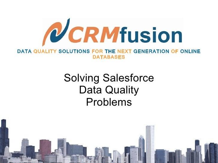 CRMFusion Montreal SFDC User Group