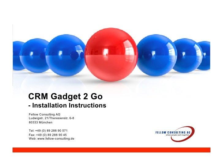 Crm gadget 2 go install