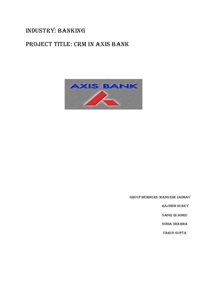 Crm in axis bank  stage 2 mid-review of  the project