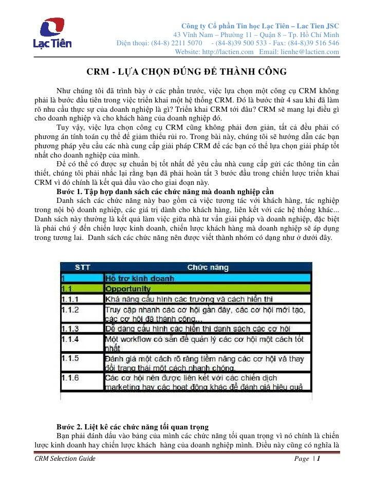 Công ty C ph n Tin h c L c Tiên – Lac Tien JSC                                             43 Vĩnh Nam – Phư ng 11 – Qu n ...