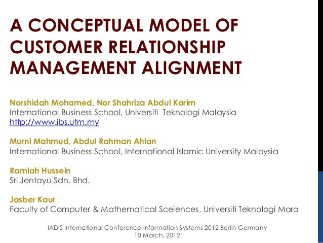 Customer Relationship Management Alignment
