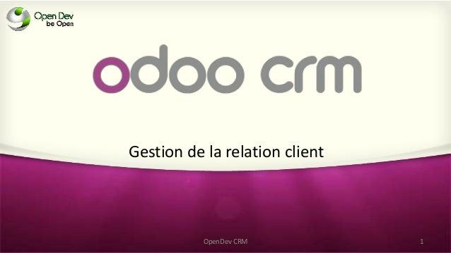 Gestion de la relation client OpenDev CRM 1
