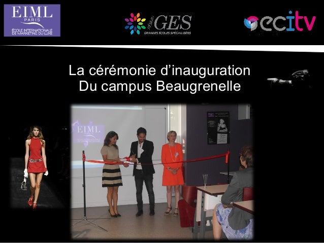 La cérémonie d'inauguration Du campus Beaugrenelle