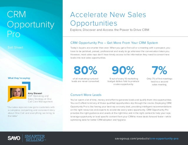 CRM Opportunity Pro  Accelerate New Sales Opportunities Explore, Discover and Access the Power to Drive CRM  CRM Opportuni...