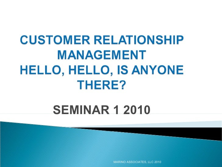 CRM Seminar 1 2010[1]