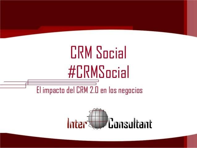 #CRMSocial