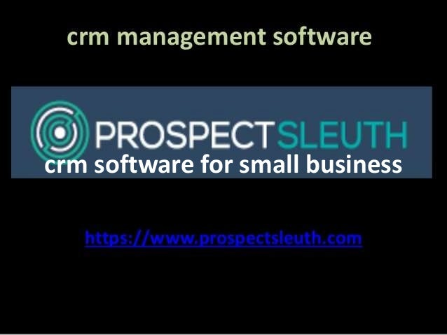 customer relationship management software small business