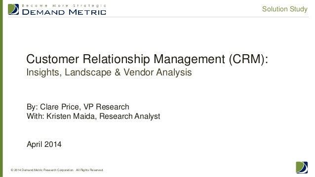 CRM Solution Study