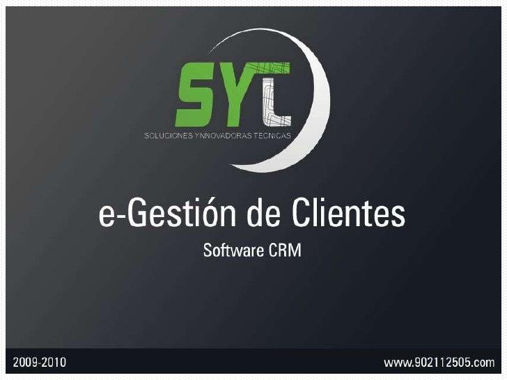 CRM SYT - e-Gestión de Clientes